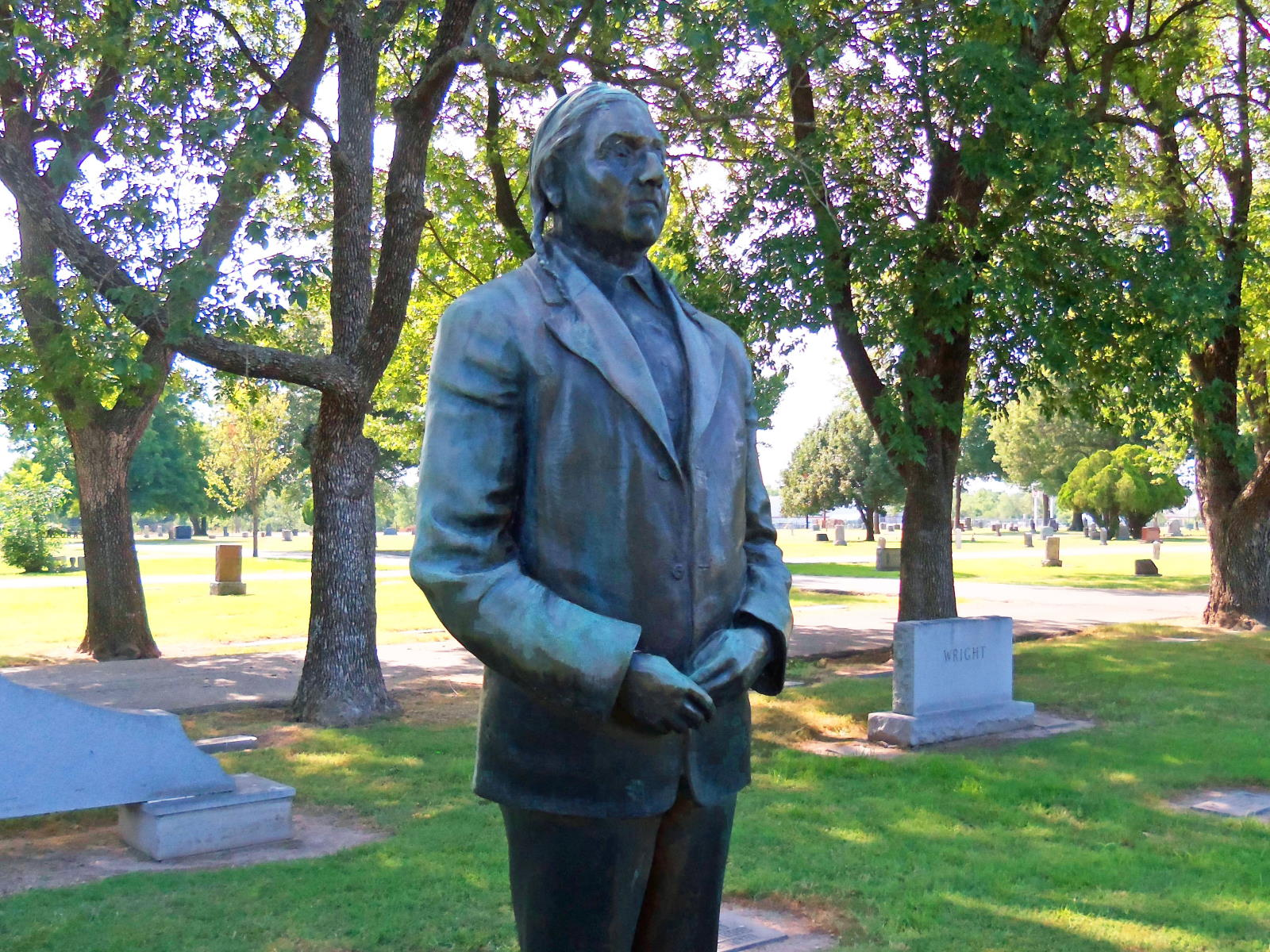 bronze statue of John Beaver
